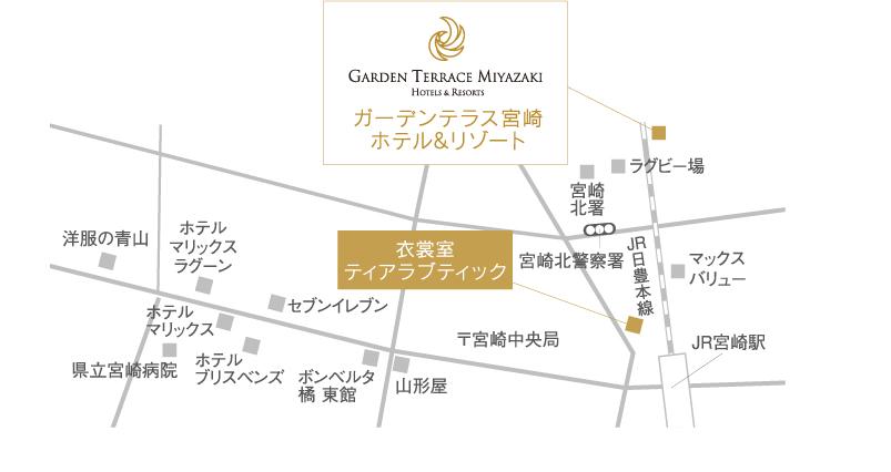 ガーデンテラス宮崎ホテル&リゾートアクセスマップ